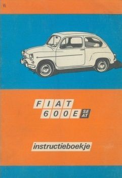 Fiat 600E SE AT instructieboekje Nederlands