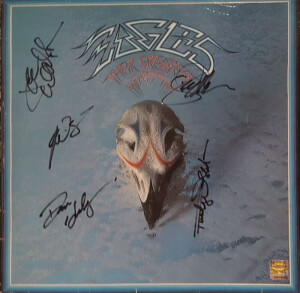 Gesigneerde Eagles LP Their Greatest Hits