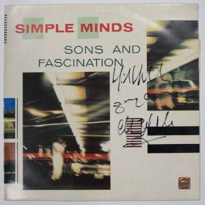 Gesigneerde Simple Minds LP
