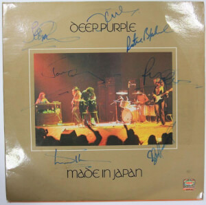 Gesigneerde Deep Purple LP