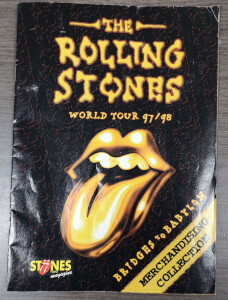 Rolling Stones Merchandise catalogus bridges to babylon 1997