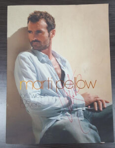 Marti Pellow signed tourbook between the covers