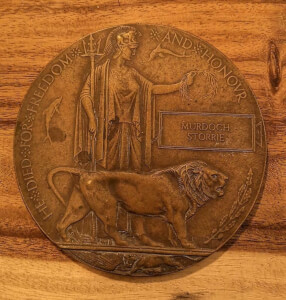 WW1 plaquette He died for freedom and honor